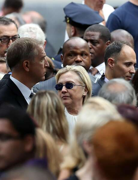 Hillary Clinton attends  the September 11 Commemoration Ceremony at the National September 11 Memorial & Museum on September 11, 2016 in New York City. Photo: Justin Sullivan, Getty Images