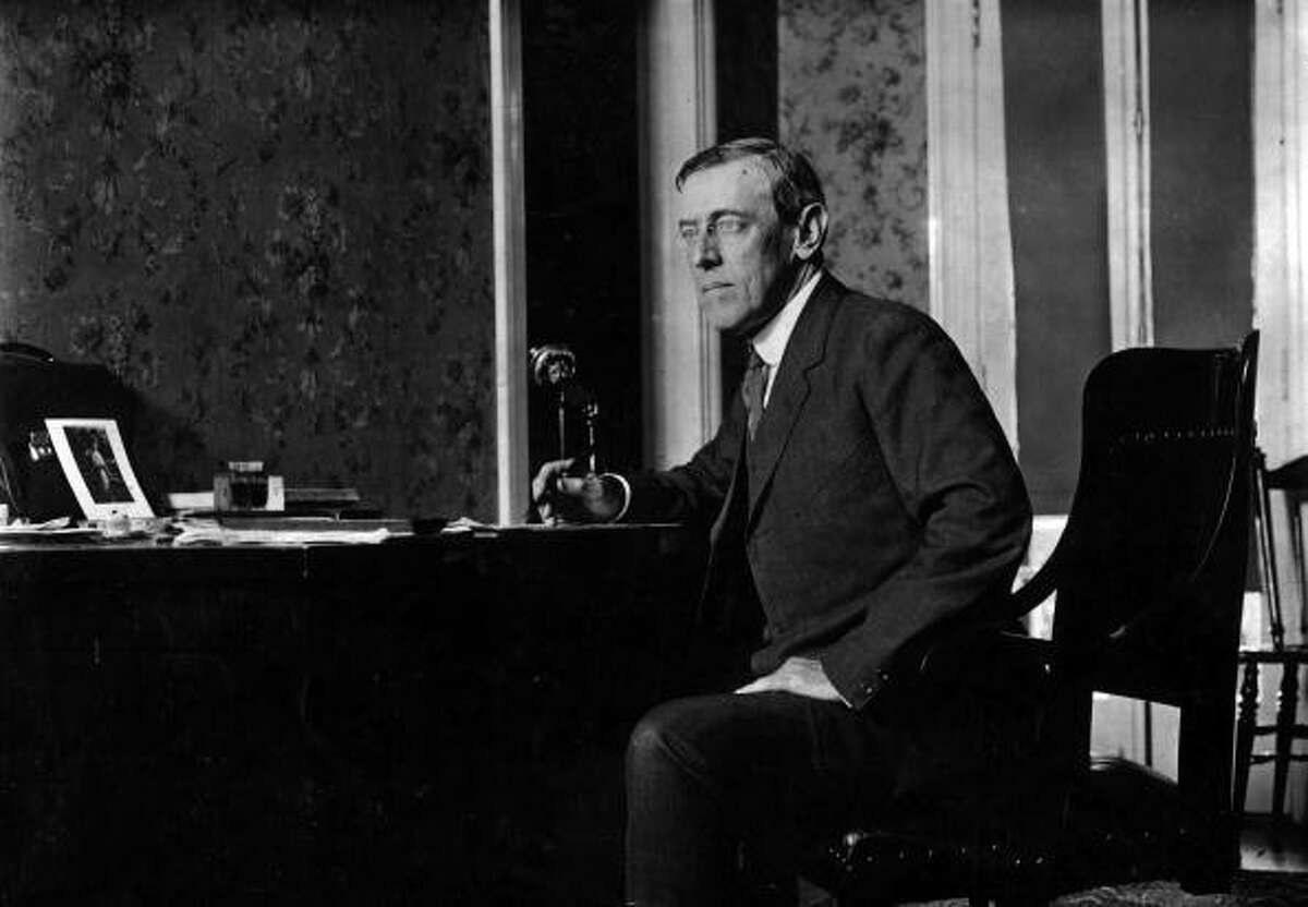President Wilson suffered a stroke that left his body paralyzed on one side in 1919. There was even a photo released of Wilson, standing defiantly, Beschloss suggested, in an apparent effort to demonstrate his health. Interestingly, Wilson later showed some of the psychological issues sometimes associated with a severe flu infection. An aide said he was obsessed with