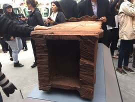 Chunk of exterior steel from Wall Trade Center, unveiled on 9/11