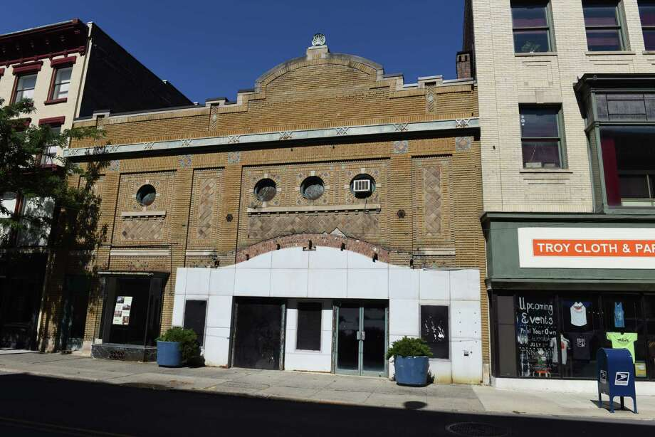 Exterior of the former American Theater on River Street on Monday, Sept. 12, 2016, in Troy, N.Y. The building is to be revived as a movie theater. (Will Waldron/Times Union) Photo: Will Waldron / 20037989A