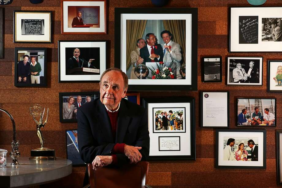 Dick Enberg, for decades a part of the national broadcasting landscape, is wrapping up his final season as the Padres' play-by-play man. Photo: Irfan Khan, TNS