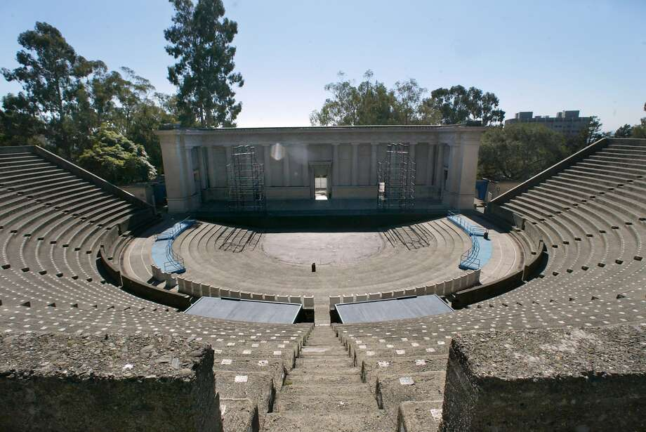 Two women were sexually assaulted at UC Berkeley's Greek Theatre on Saturday during the Mad Decent Block Party concert, police said. Police are still searching for the two suspects. Photo: LIZ MANGELSDORF, SFC