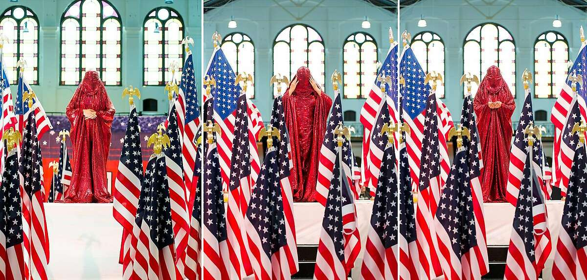 ANIDA YOEU ALIRed Chador, Furies & Muses(The Red Chador: Thresholds)Crosslines Culture Lab at Smithsonian Arts & Industries Building, Washington, DCMay 28-29, 2016