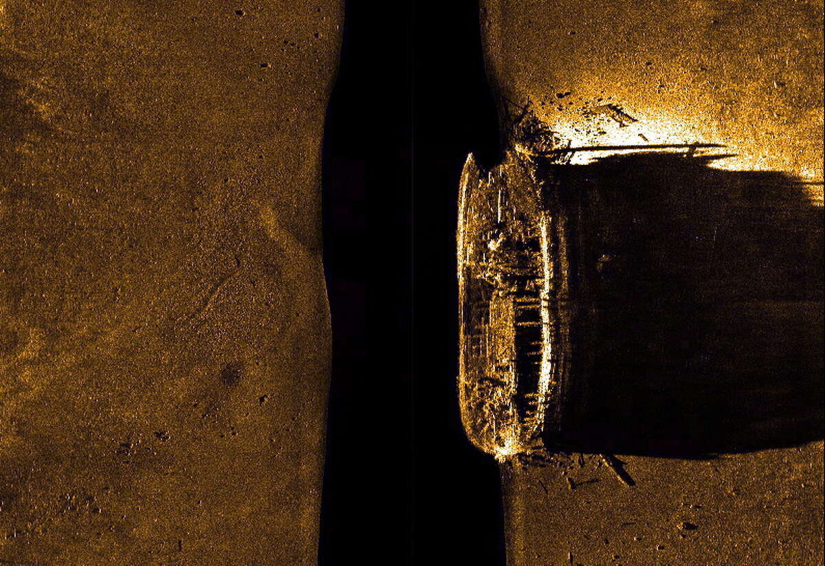 In a Sept. 9, 2014 image provided by Parks Canada, HMS Erebus is pictured on a sonar scan in the Queen Maud Gulf in Nunavut. The Arctic Research Foundation said Monday, Sept. 12, 2016, that the second ship from Sir John Franklin's doomed 19th-century search for the Northwest Passage has been found. The HMS Terror has been located in the Arctic waters along the fabled waterway. (Parks Canada/The Canadian Press via AP) ORG XMIT: CPT122