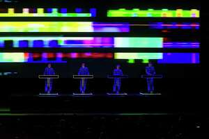 Kraftwerk in concert Sept. 12, 2016 at the Tobin Center
