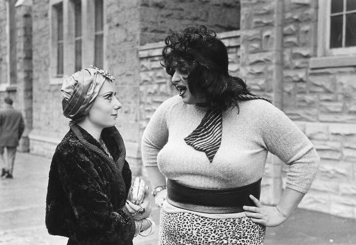 Divine as Lady Divine and Mink Stole as Mink in John Waters� �Multipile Maniacs� (1970).