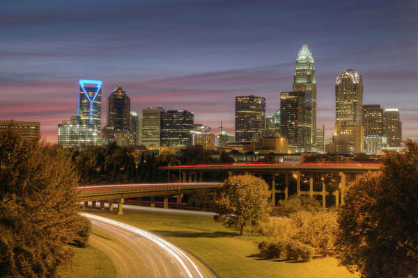 Beautiful downtown Charlotte, North Carolina, skyline