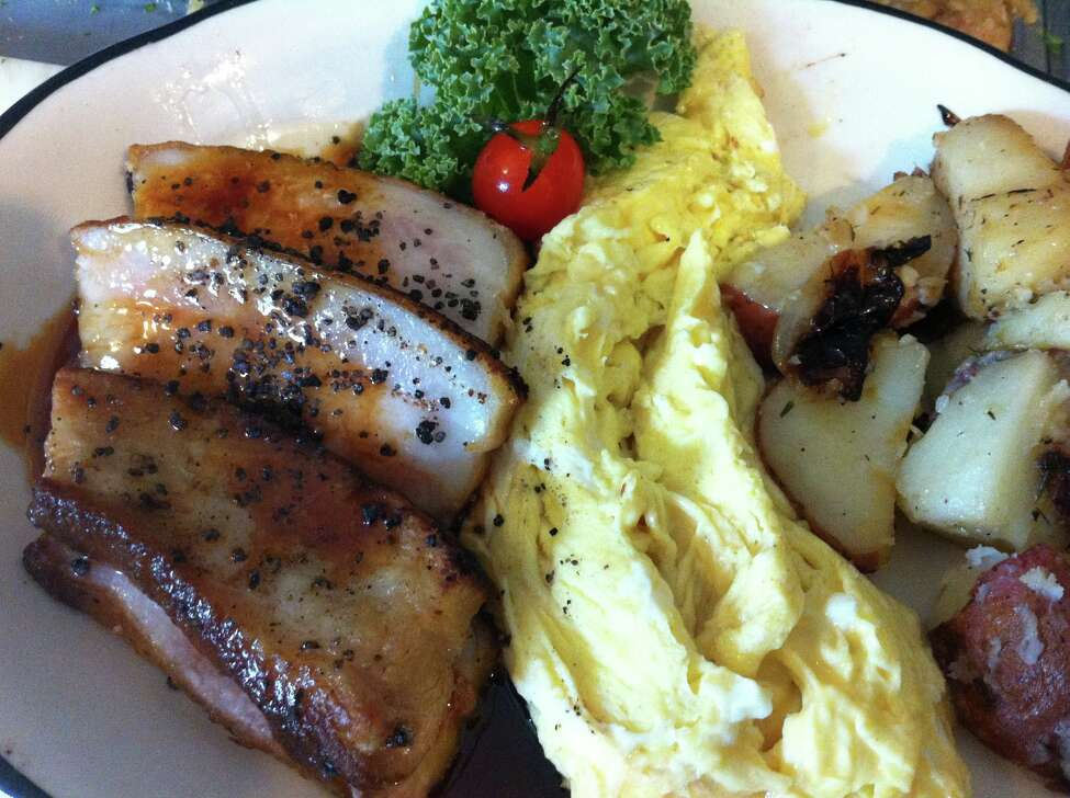 """Jake Moon Cafe and Restaurant in Clarksville.""""Hearty fare with a french twist! Draws a crowd consisting of hipsters to hunters."""" - Batman """"Creative brunch choices and quality ingredients. Sometimes they have live music during Sunday brunch."""" - Sean"""