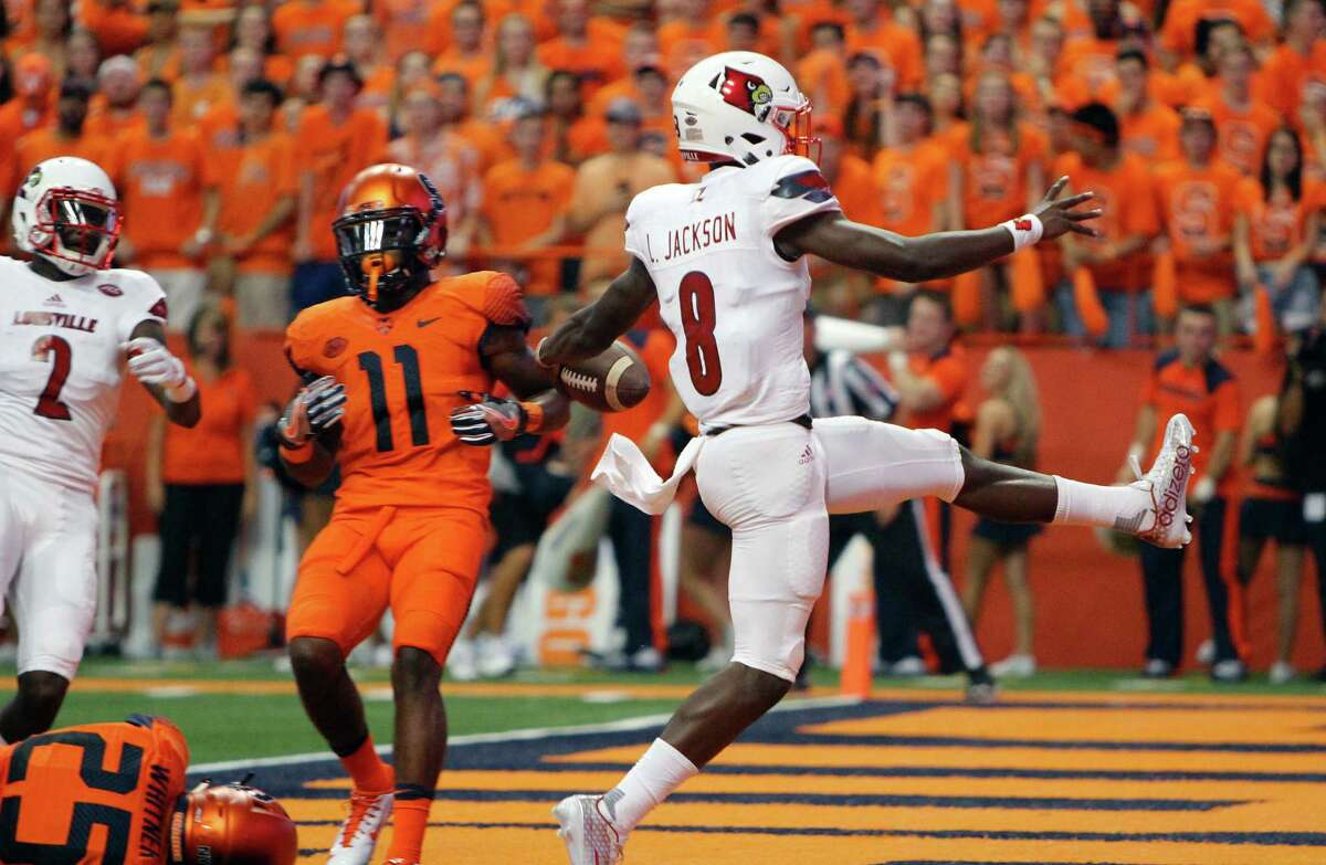 No. 2 Florida State at No. 10 Louisville, 11 a.m. Saturday (ABC) This arguably is the game of the week. Louisville QB Lamar Jackson has terrorized foes this season, throwing for 697 yards and seven touchdowns while rushing for 318 yards and another six scores. Houston fans will keep an eye on this game, as the Cardinals will visit in November. Facing an undefeated Louisville team would bode well for UH's College Football Playoff hopes.