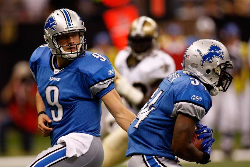 18. Matthew Stafford, Lions Game: 16/37, 205 yards, 0 TD, 3 INT, 1 rushing TD, 27.4 QB rating 2009 Season: 10 GP, 201/377 (53.3%), 2,267 yards, 13 TD, 20 INT, 61.0 QB rating The No. 1 overall pick struggled mightily in his debut, losing to the Saints 45-27. It didn't get any better over his next nine games, as Stafford won just two while battling injury. He's still leading the Lions and was selected to the Pro Bowl in 2014.