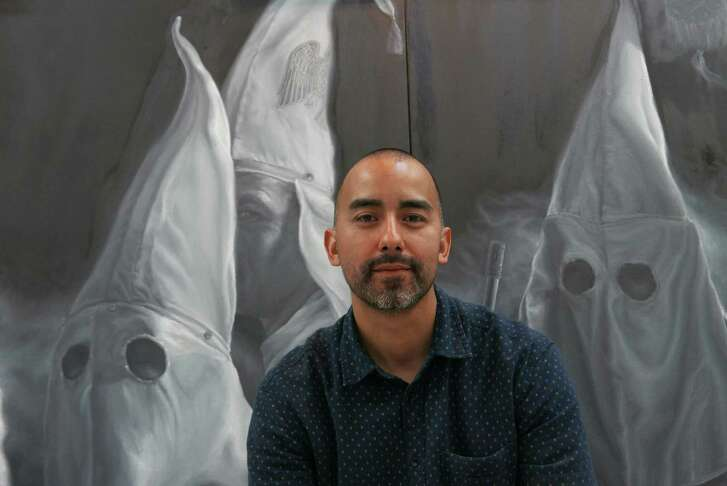 "Vincent Valdez spent the past year working on ""The City"" for an exhibit at David Shelton Gallery in Houston."