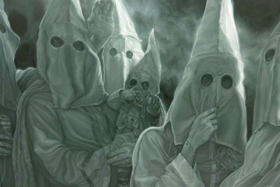 San Antonio Express News >> San Antonio artist tackles racism in startling paintings - San Antonio Express-News