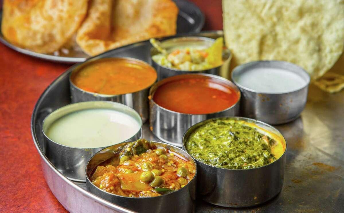 Madras thali atShri Balaji Bhavan