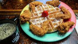 ** Top 100 restaurants **The Breakfast Klub's wings and waffles. Photographed, Monday, Aug. 15, 2016, in Houston. ( Nick de la Torre )