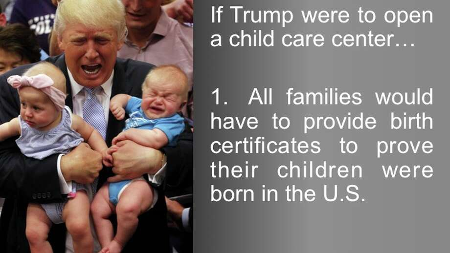 (Commentary) In light of Donald Trump announcing his child care agenda today, we thought it would be fun to speculate about what a Trump-run child care center might be like. Share your ideas in the comments. Photo: Getty/Joe Mahoney