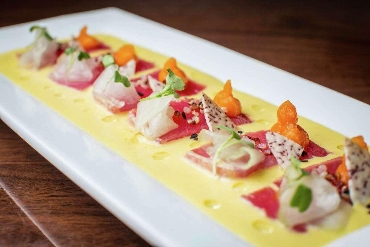 Passion fruit tuna tiradito at Latin Bites