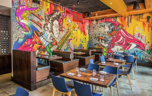 Azuma Group Izakaya Where: 318 Gray  Photo: the colorful dining room  Photo: Nick De La Torre, Houston Chronicle / © de la Torre Photos LLC