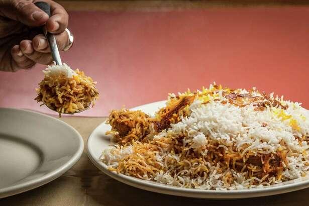 ** Top 100 Restaurants ** Himalaya Restaurant & Catering's lamb biryani. Photographed Thursday, July 14, 2016, in Houston. ( Nick de la Torre )
