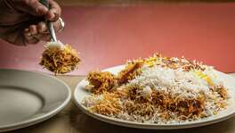 ** Top 100 Restaurants **  Himalaya Restaurant & Catering's lamb biryani. Photographed Thursday, July 14, 2016, in Houston. ( Nick de la Torre )