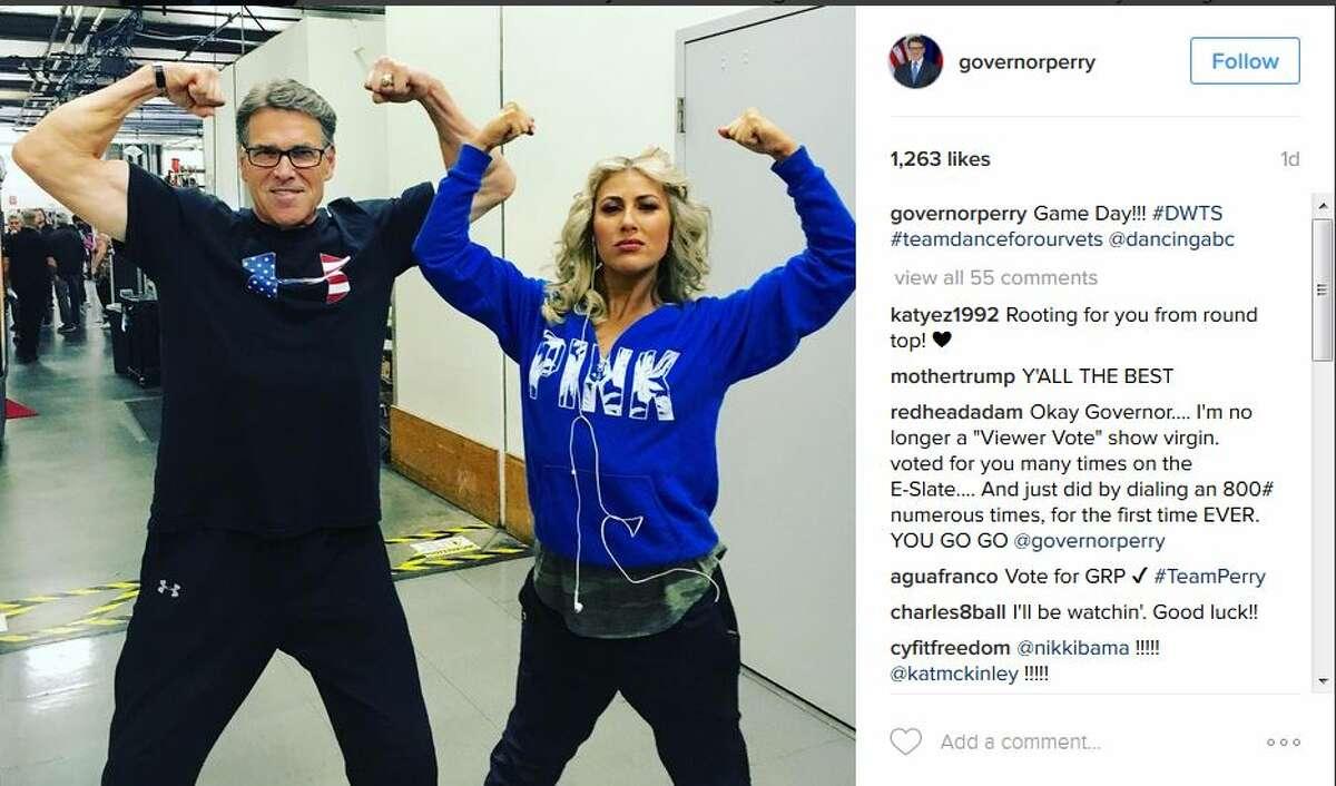 governorperryGame Day!!! #DWTS #teamdanceforourvets @dancingabc