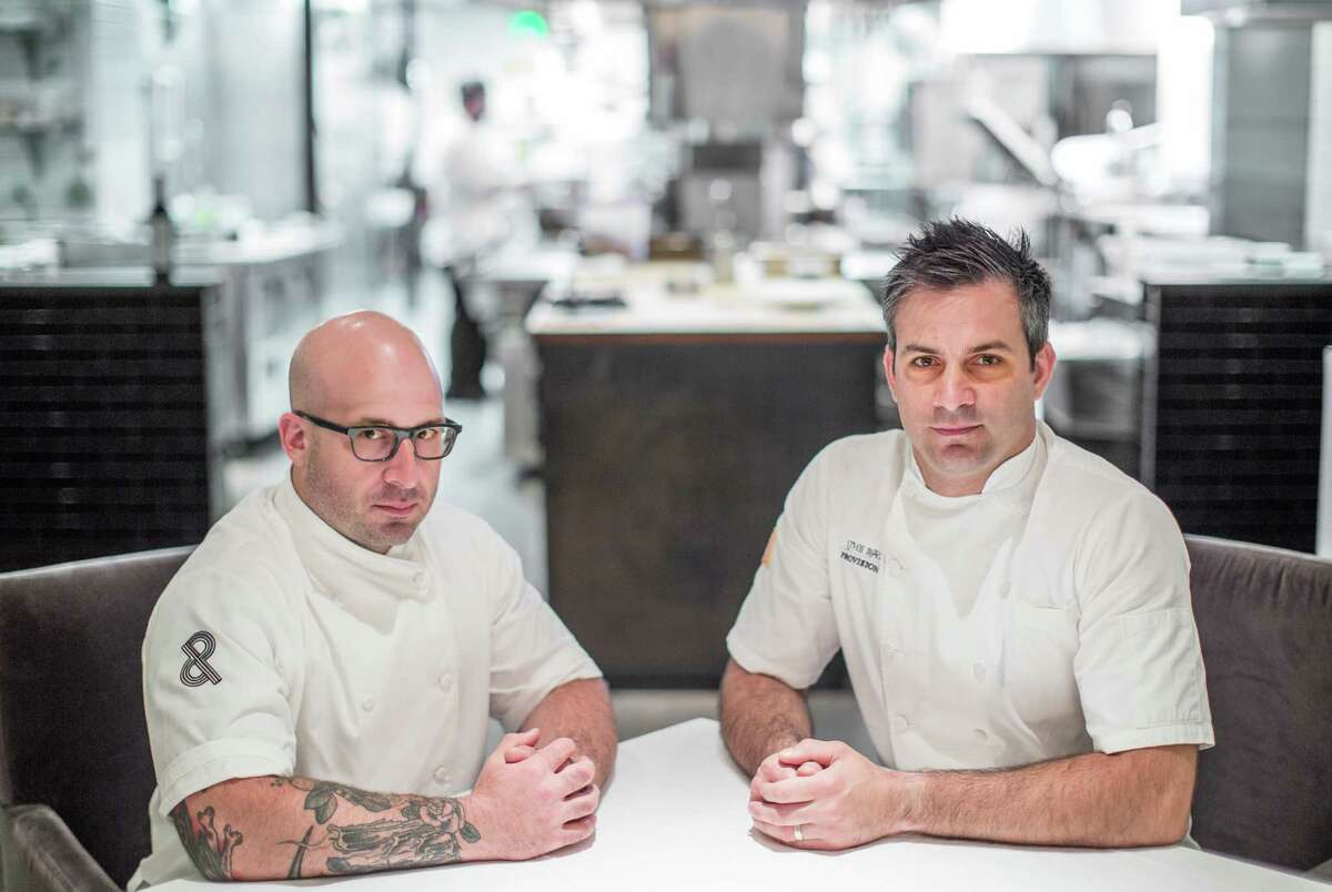 Chefs and co-owners Seth Siegel-Gardner, left, and Terrence Gallivan at The Pass
