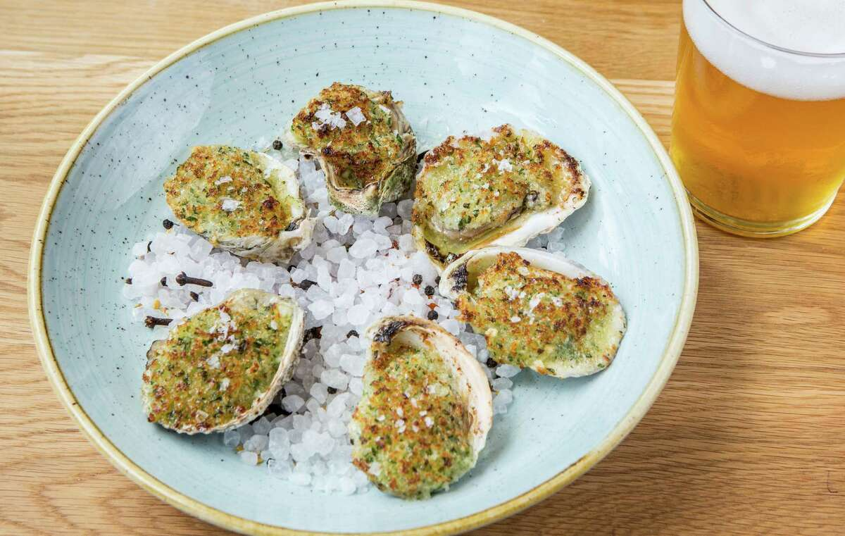 Bernadine's chargrilled Gulf oysters