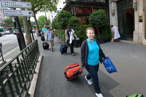 In Europe you�ll probably walk with your bag much more than you think you will.