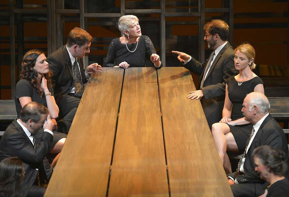 """The Westons gather for a meal in a production of """"August: Osage County"""" that evokes the wounds that only family members can induce. Photo: Kevin Berne, Marin Theatre Company"""