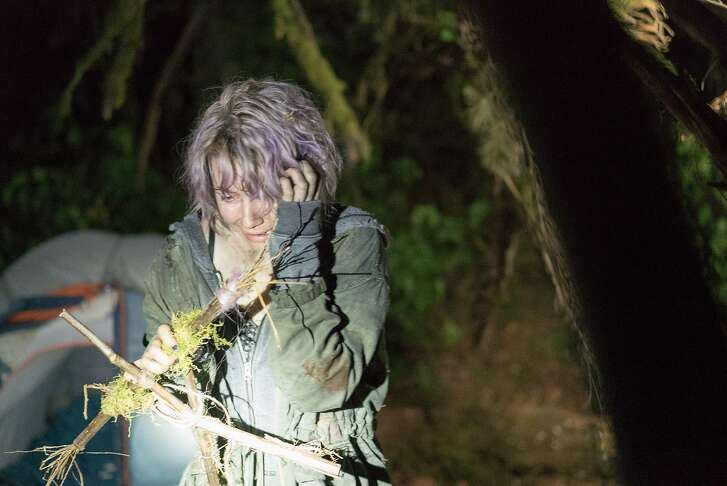 """This image released by Lionsgate shows Valorie Curry in a scene from """"Blair Witch."""" (Chris Helcermanas-Benge/Lionsgate via AP)"""
