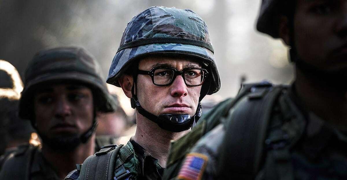 Joseph Gordon-Levitt as Edward Snowden in a scene from the movie
