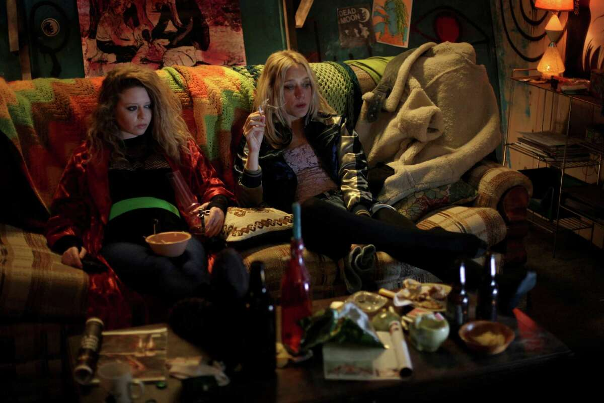 """Sadie (Chloe Sevigny, right) gives advice to her poor, besotted friend Lou (Natasha Lyonne) in """"Antibirth."""""""