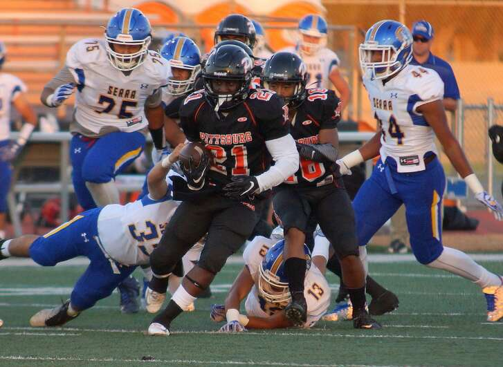Pittsburg running back Montaz Thompson - and not neighbor Najee Harris of Antioch - is the Bay Area's leading rusher three weeks into the 2016 season. The Pirates are unbeaten and No. 4 in The Chronicle's weekly poll.