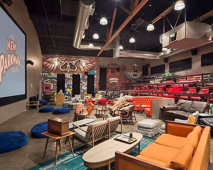 The interior of The New Parkway Theater in Oakland.