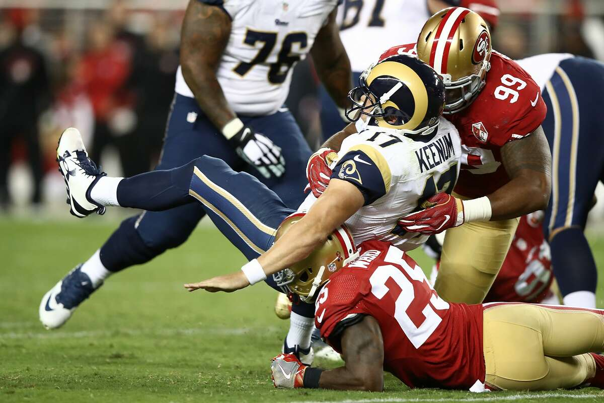 Ranking the 15 best moments at Levi's Stadium so far 15. Defensive demolition of the Rams on Monday Night Football (September 12, 2016) In 2016, the 49ers won just one game at Levi's Stadium. It was a 28-0 spanking of the Los Angeles Rams in Chip Kelly's debut as 49ers head coach, and the team didn't win another game until Week 16 when they beat the Rams again in Los Angeles.