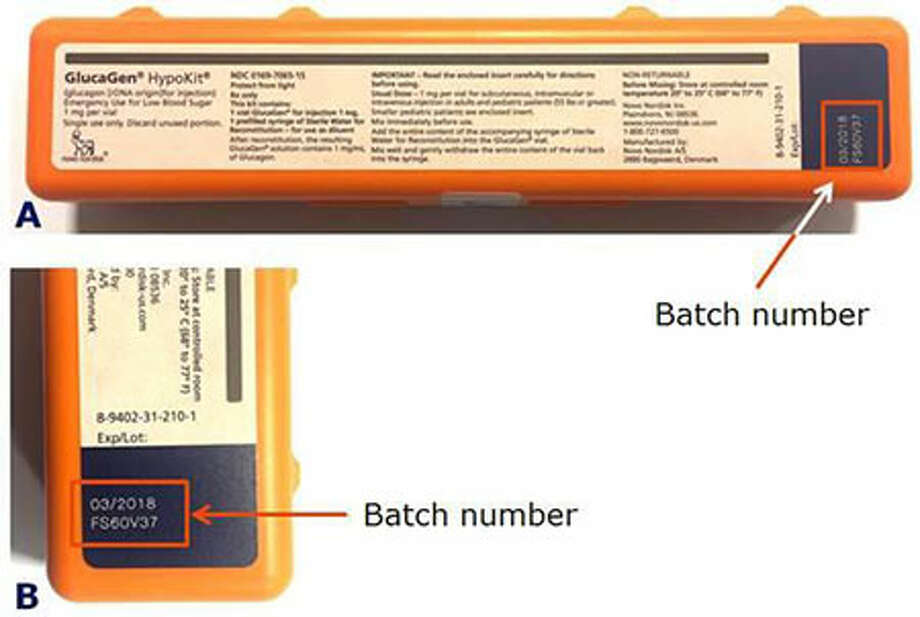 Novo Nordisk Inc. is recalling six batches of the GlucaGen HypoKit in the U.S. due to two customer complaints from the United Kingdom and Portugal involving detached needles on the syringe. Photo courtesy of the U.S. Food and Drug Administration. Photo: Contributed