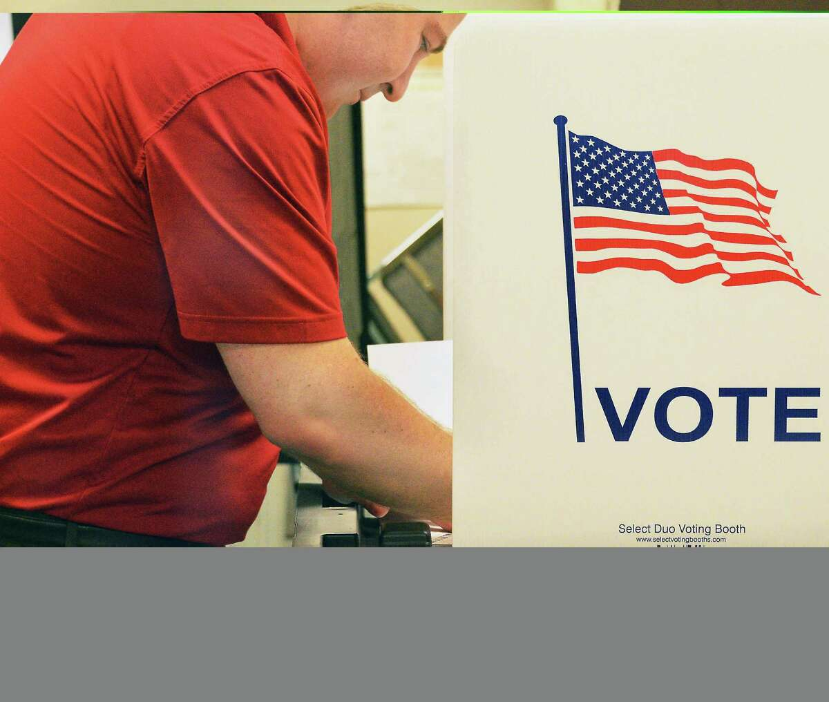 Candidate Chris Boyark votes in the 113th Assembly Republican primary Tuesday Sept. 13, 2016 in Mechanicville, NY. (John Carl D'Annibale / Times Union)