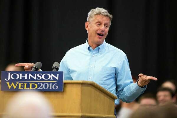 Libertarian presidential candidate Gary Johnson.
