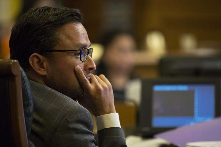 Board of Supervisors member David Campos listens in to community members speak against the Beast on Bryant project, during a Board of Supervisors meeting about the Beast on Bryant project, on Tuesday, Sept. 13, 2016 in San Francisco, Calif.
