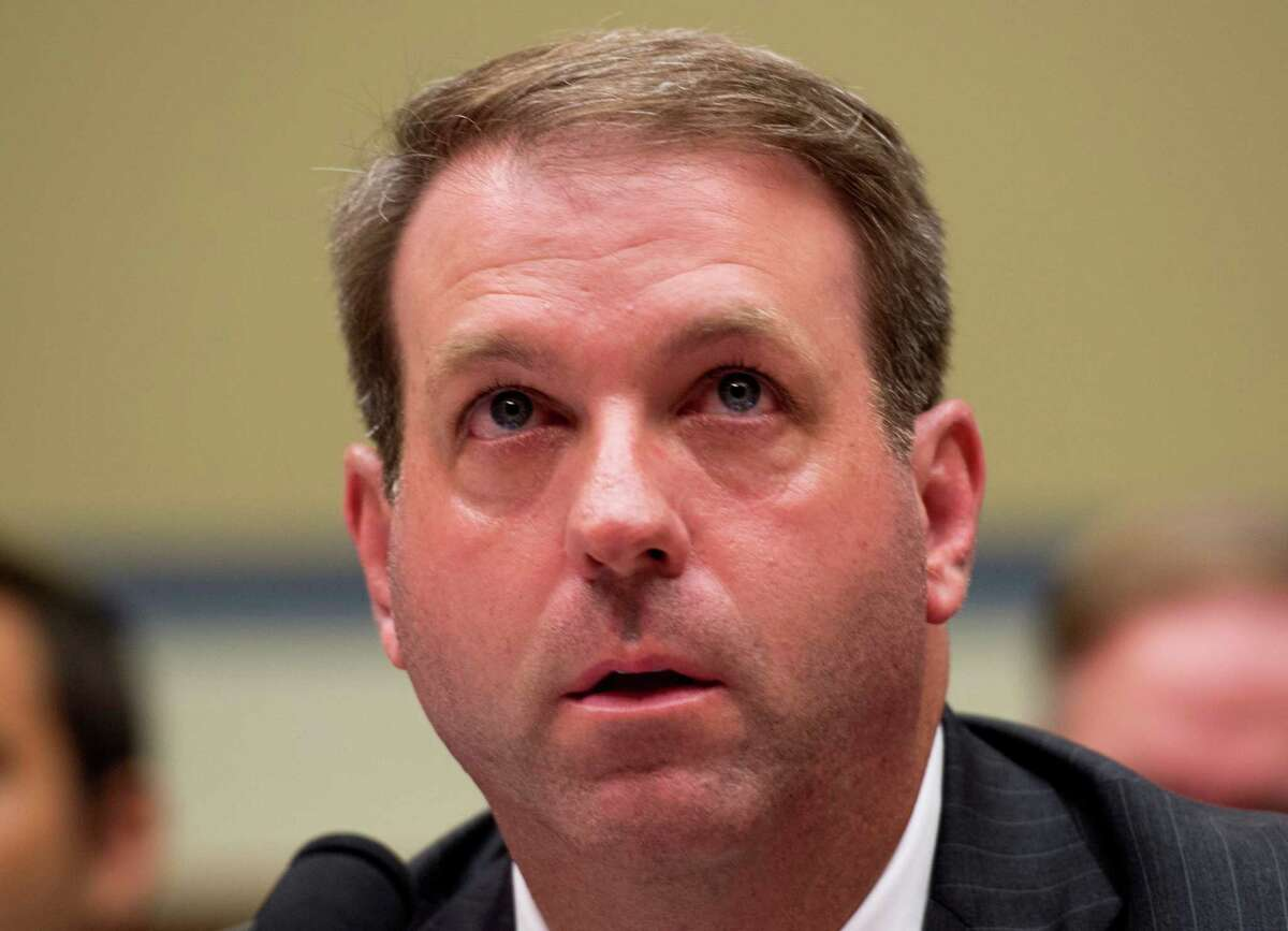 Jason Herring, Acting Assistant Director for Congressional Affairs at the FBI, testifies during the House Oversight and Government Reform Committee hearing on classifications and redactions in FBI's investigative file of former Secretary of State Hillary Clinton, in Washington, Monday, Sept. 12, 2016, (AP Photo/Molly Riley)