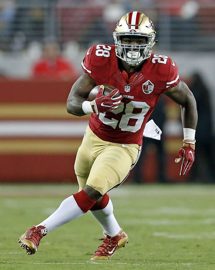 San Francisco Ers Carlos Hyde Against Los Angeles Rams During Nfl Game At Levis Stadium