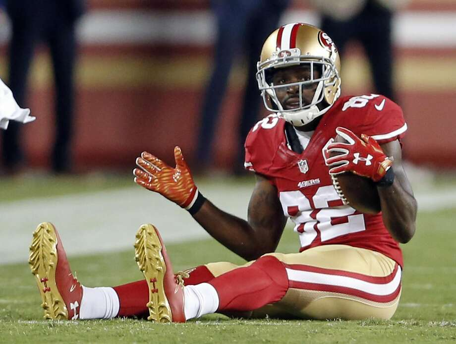 San Francisco 49ers' Torrey Smith against Los Angeles Rams during NFL game at Levi's Stadium in Santa Clara, Calif., on Monday, September 12, 2016. Photo: Scott Strazzante, The Chronicle