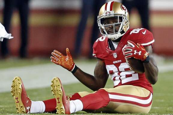 San Francisco 49ers' Torrey Smith against Los Angeles Rams during NFL game at Levi's Stadium in Santa Clara, Calif., on Monday, September 12, 2016.