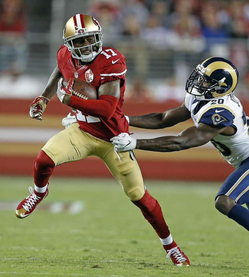 Jeremy Kerley had seven catches for 61 yards against the Rams. Photo: Scott Strazzante, The Chronicle