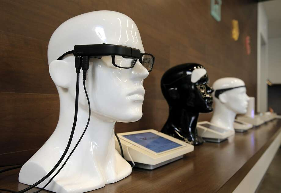 The Vufine wearable display on sale at b8ta in Palo Alto. Photo: Carlos Avila Gonzalez, The Chronicle