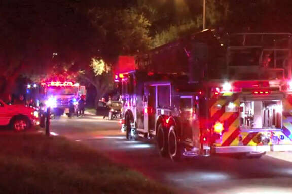 A family scrambled to safety but their dog did not make it out as fire swept through their house Tuesday night in west Harris County, officials said.
