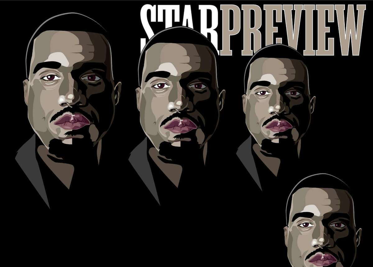 Kanye West (Beatles-esque) portrait on the cover of this week's Preview.