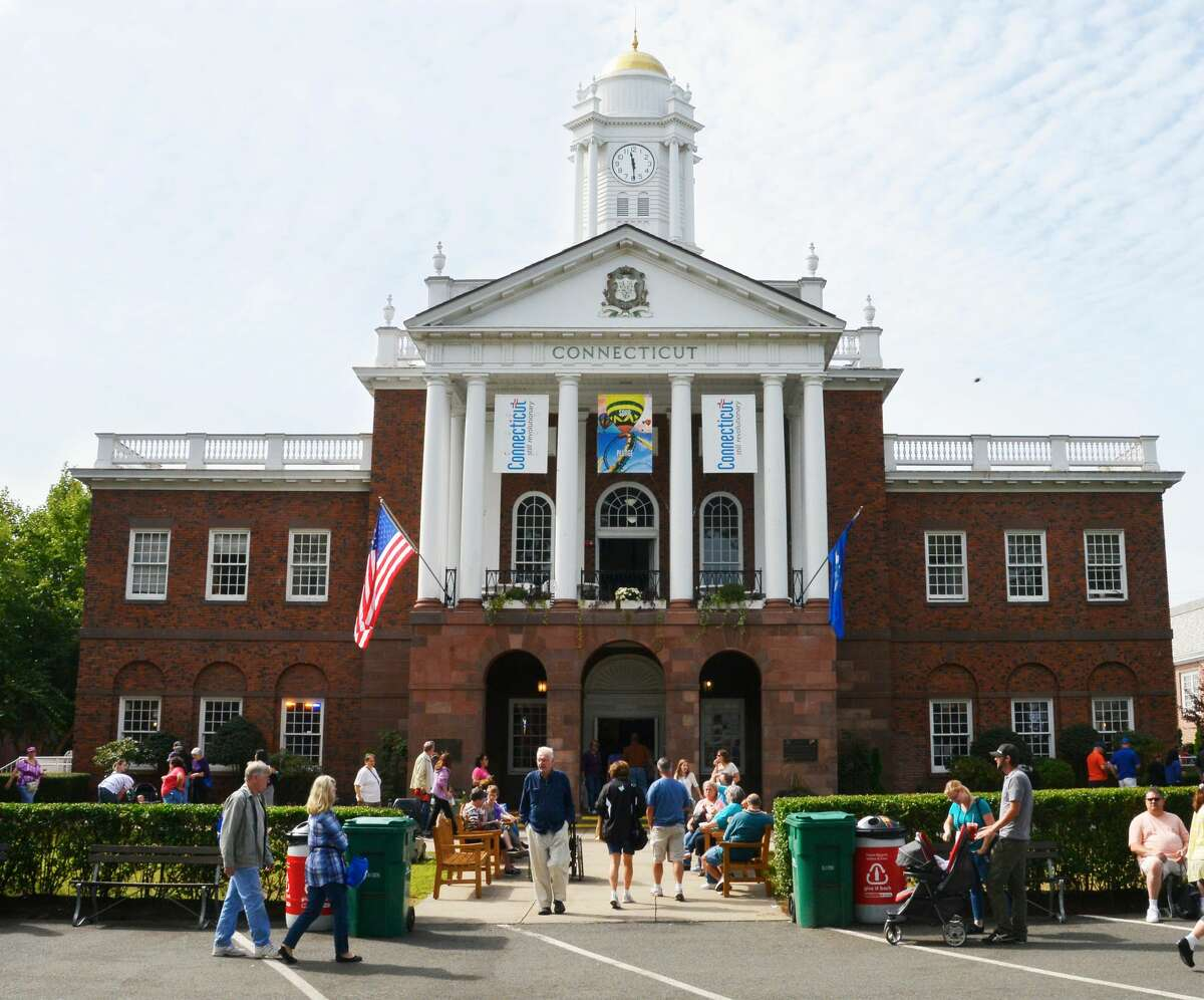 The Connecticut building at the Big E Fair.