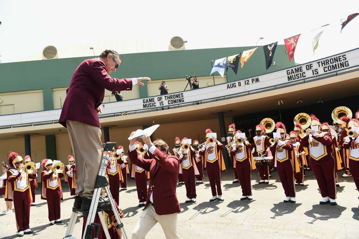 A file photo of the University of Southern California band.