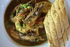 Barbecue shrimp at The Cookhouse