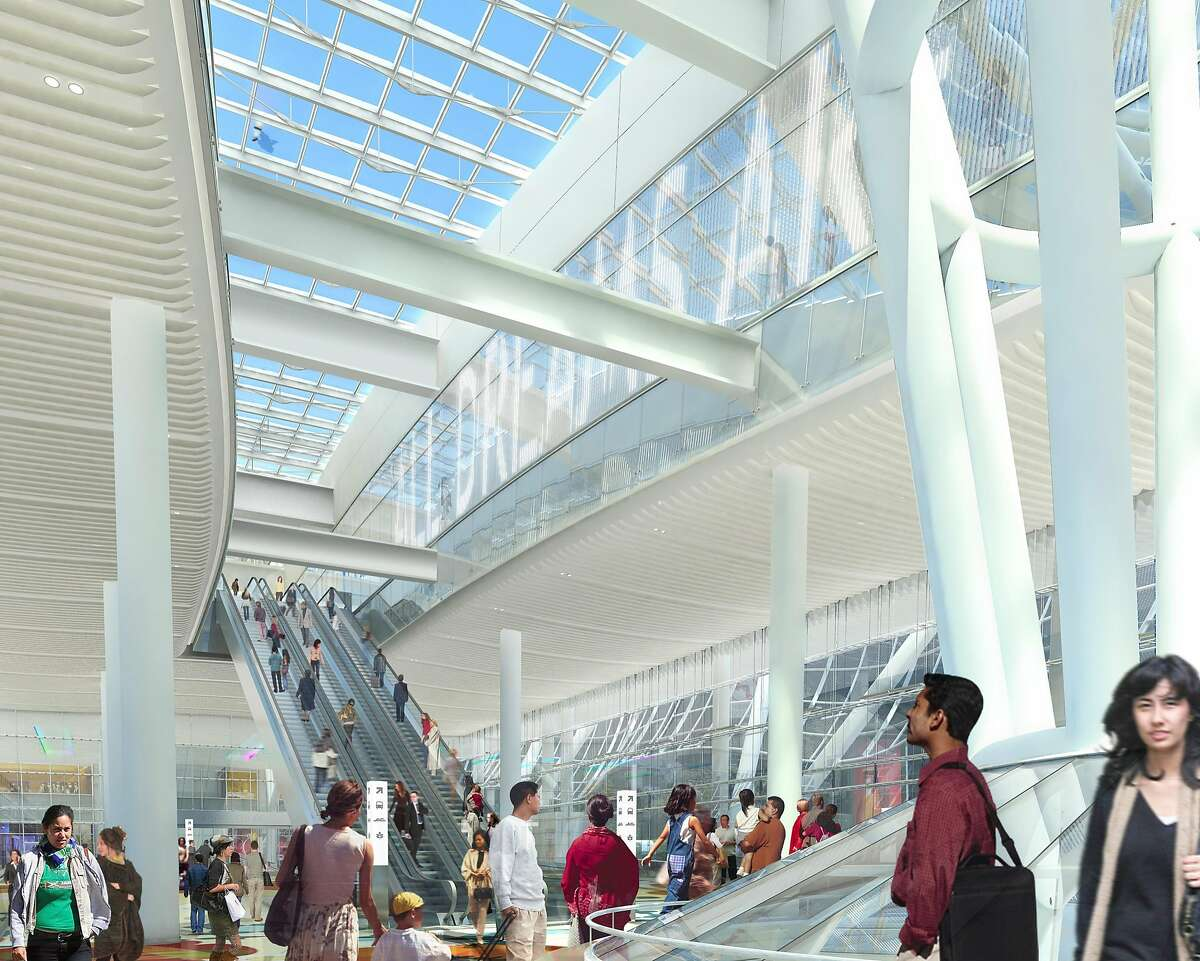Rendering of Jenny Holzer project for Transbay Transit Center